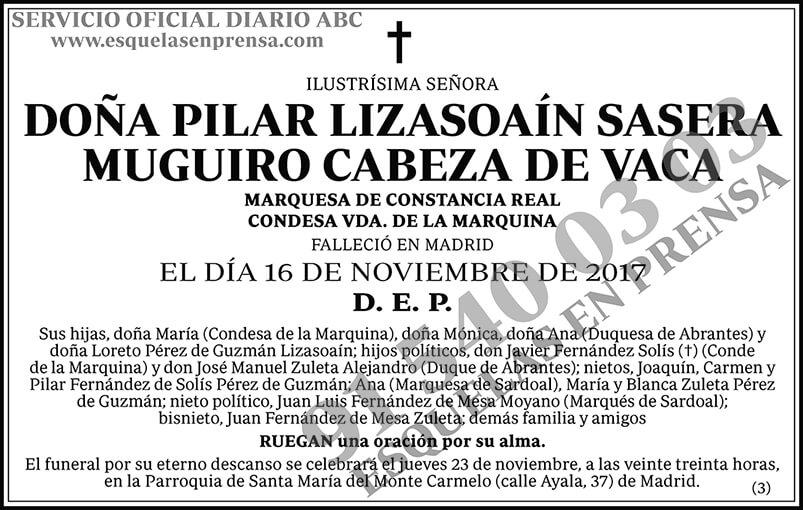 Pilar Lizasoaín Sasera Muguiro Cabeza de Vaca
